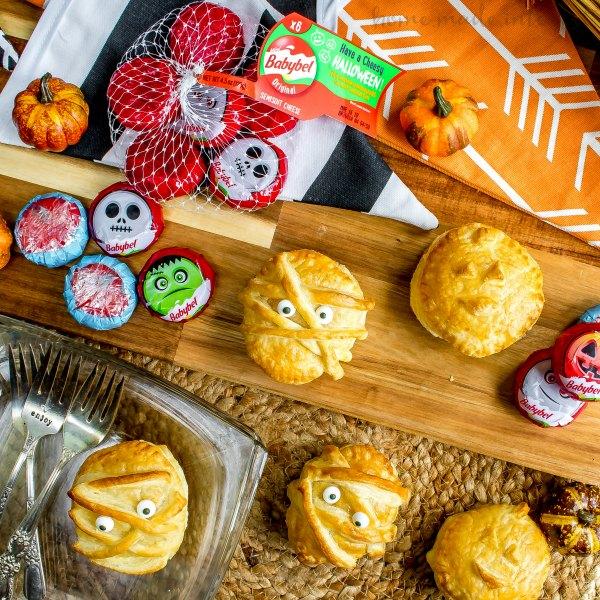 Babybel halloween puff pastry