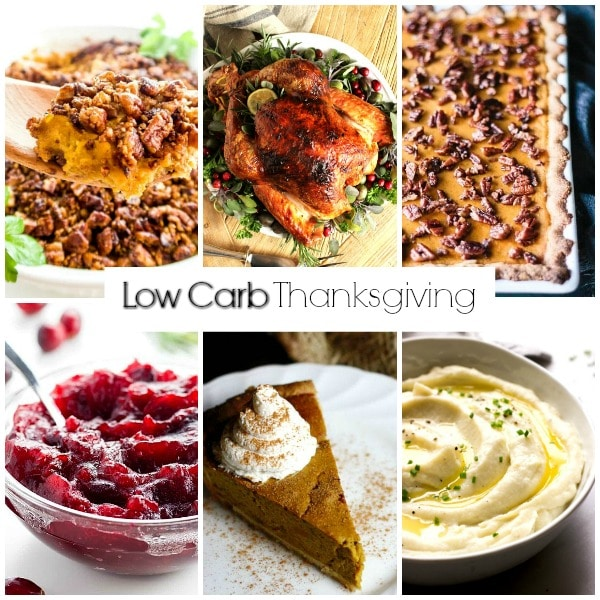 low carb menu for Thanksgiving