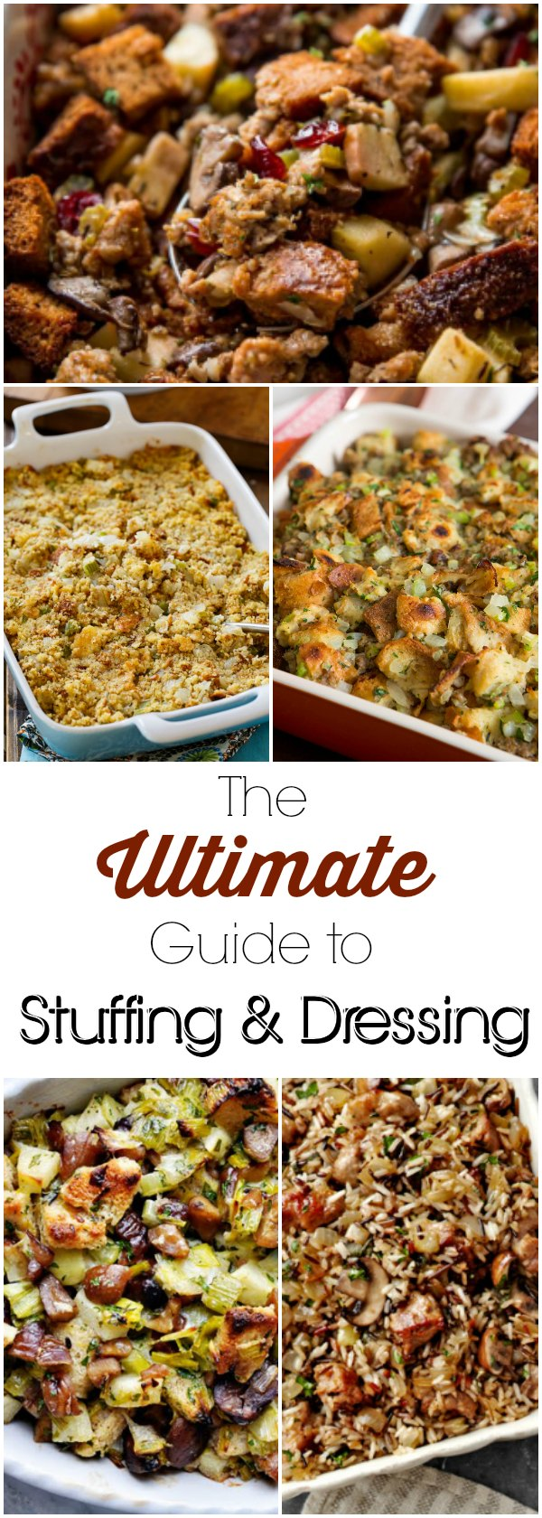 The Ultimate Guide to Stuffing and Dressing | If Thanksgiving sides are your favorite part of Thanksgiving then you are going to love this ultimate guide to stuffing recipes and dressing recipes. Thanksgiving stuffing recipes can also be Thanksgiving dressing recipes ...do you know the difference? We've got everything you need to know about making an amazing stuffing recipe for Thanksgiving dinner.