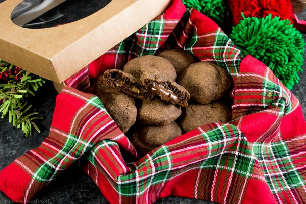 box of low carb chocolate peanut butter cup stuffed cookie | Low Carb Cookies