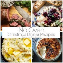 no oven and no bake Christmas dinner recipes that can be made outside the kitchen without using you oven.