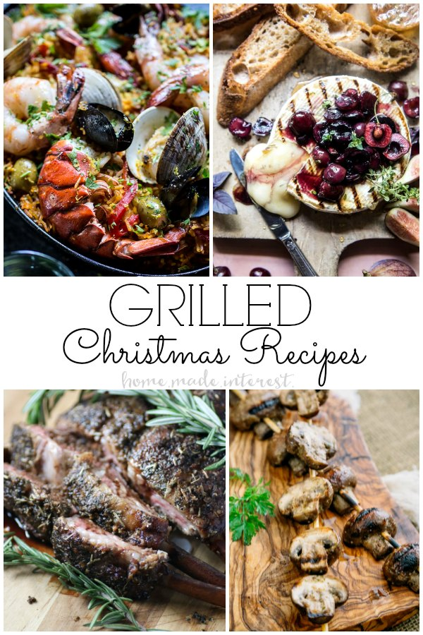 We've got a list of amazing no-bake Christmas Dinner recipes including these Christmas dinner recipes you make on the grill. If you love grilling you've got to check out these Grilled Christmas recipes!
