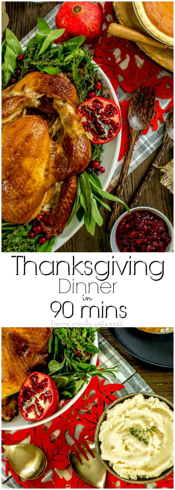 This delicious Thanksgiving dinner can be made in 90 minutes. Make Thanksgiving a little easier with a Thanksgiving dinner delivered straight to your front door! Thanksgiving side dishes, a beautiful golden brown, moist turkey, and pumpkin and apple pie make this Thanksgiving meal kit the easy way to host Thanksgiving!