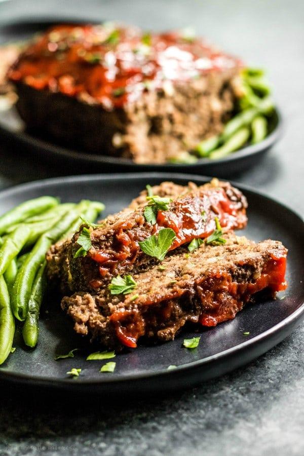 low carb meatloaf slices