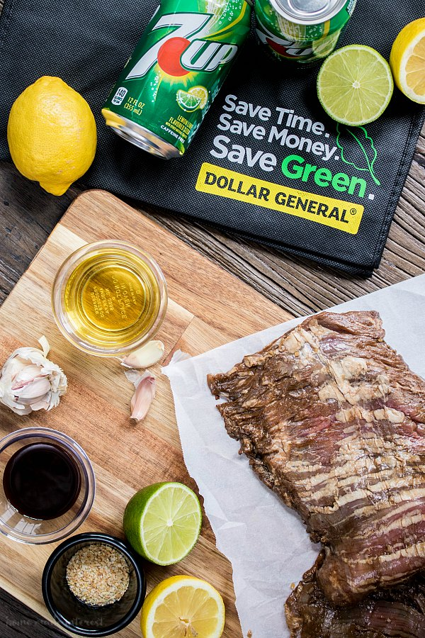 7UP marinade for skirt steak