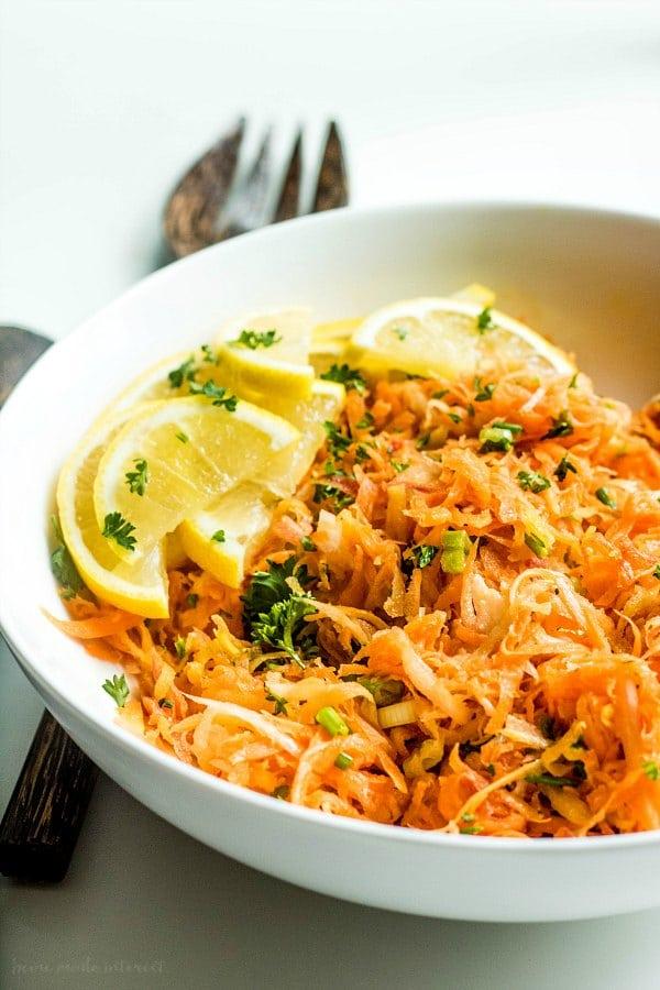 bowl of carrot salad