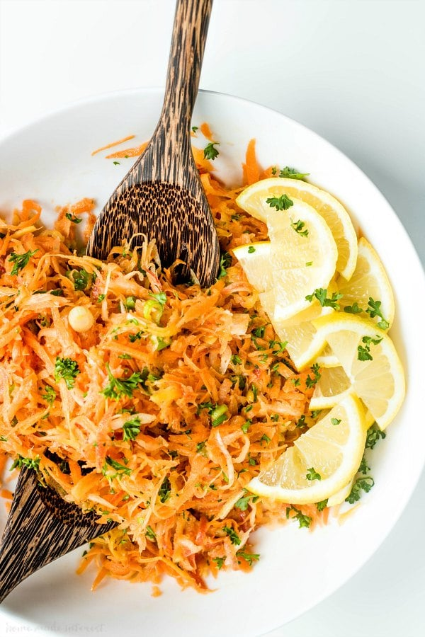 Easter carrot salad in a bowl