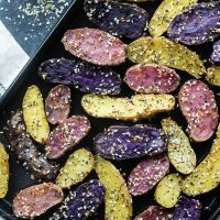 roasted Everything Bagel Fingerling Potatoes