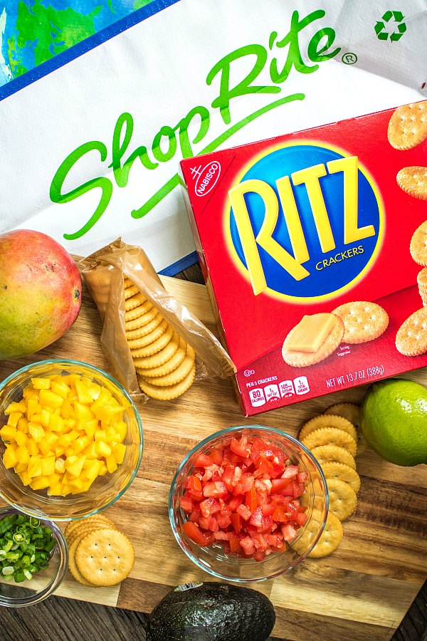 Ingredients for Mango Chicken Salad as well as RITZ crackers from ShopRite