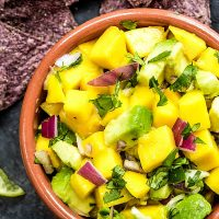 fresh mango and avocado salsa