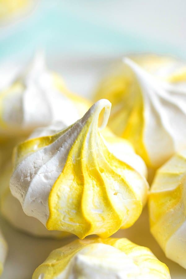 mini Lemon Meringue Cookies
