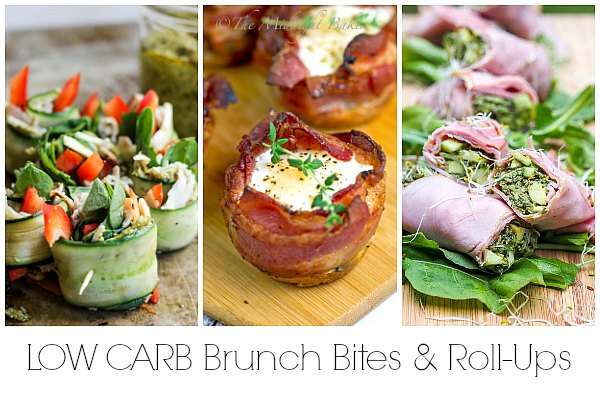 Low Carb brunch appetizers and Low carb roll-up recipes