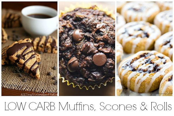 Low carb muffins, low carb scones and low carb roll recipes for brunch