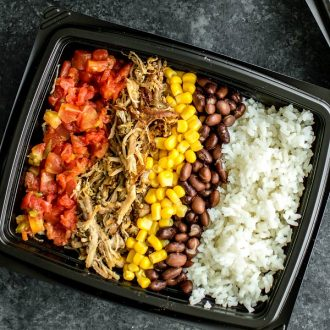 easy carnitas meal prep bowl