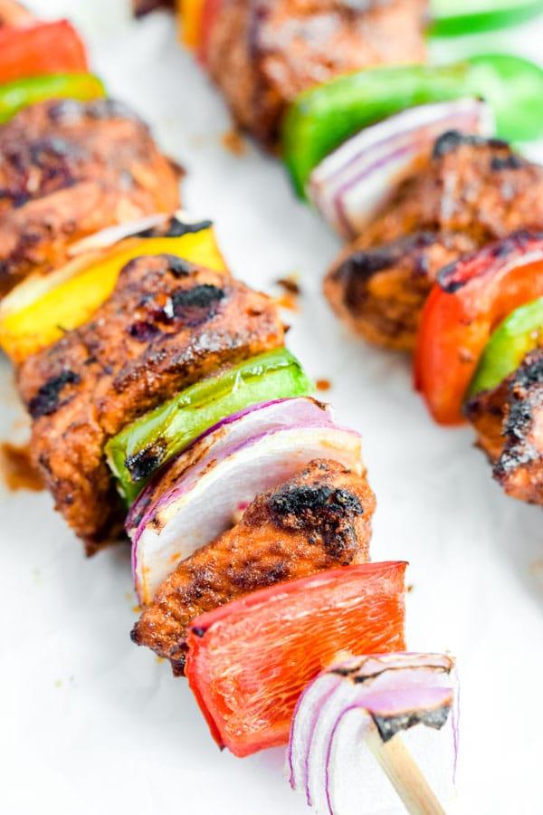 Grilled Chicken Fajita Skewers Home Made Interest