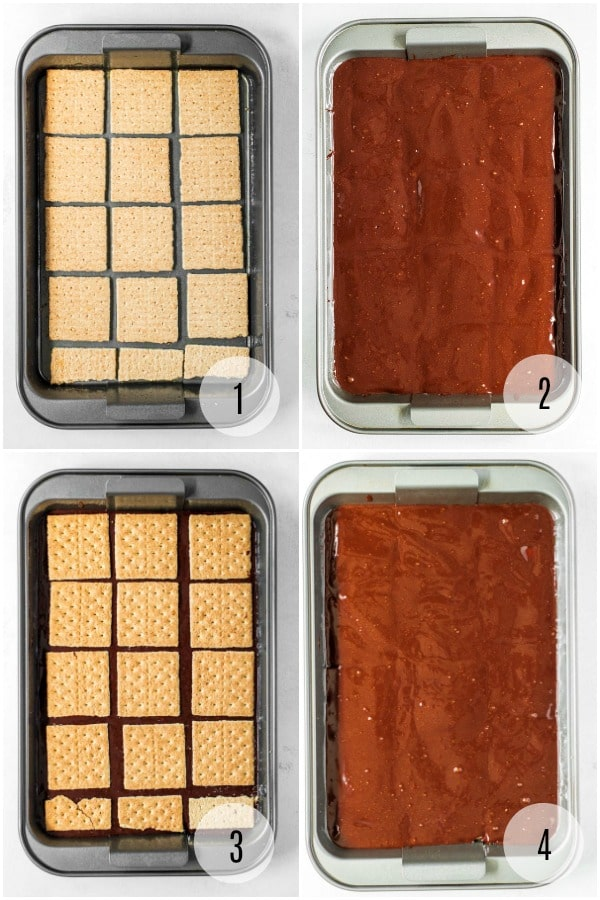 Step-by-step instructions for making S'mores brownies