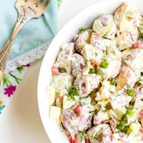 how to make sour cream potato salad