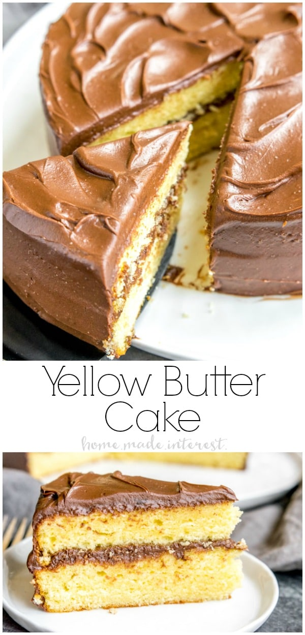 This easy Yellow Butter Cake recipe is a homemade yellow cake made with butter instead of oil. It is a rich, moist, cake that goes well with any frosting. This is a from scratch yellow cake recipe that everyone should know how to make.