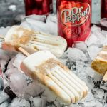 Dr. Pepper Popsicles on ice