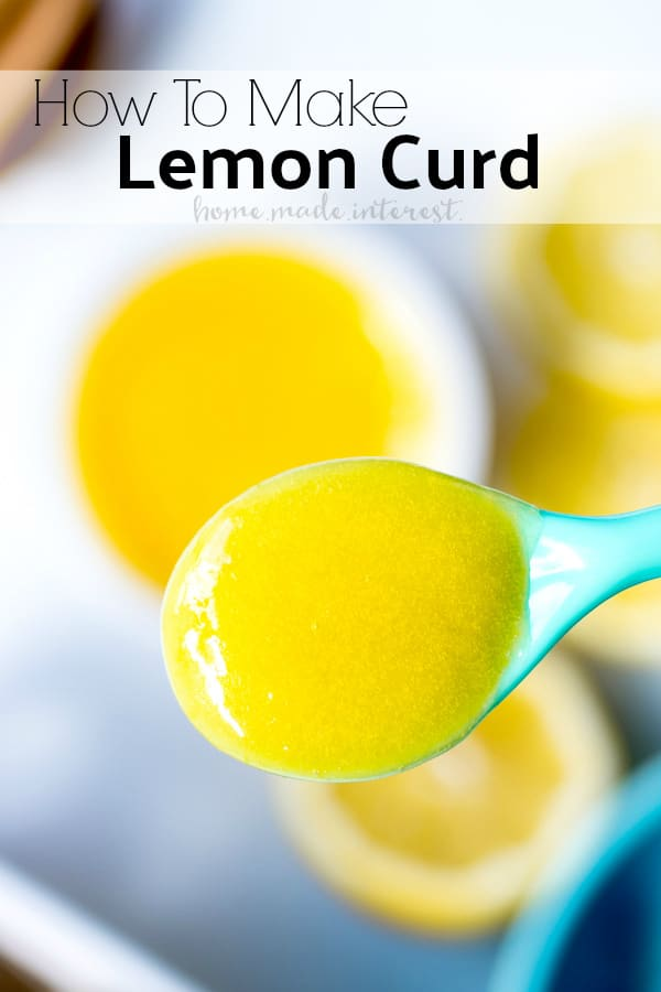We'll show you how to make this easy lemon curd recipe. This lemon curd recipe uses lemon juice, sugar and eggs to make a light, bright, perfectly sweet and tart, lemon curd that makes a create filling for cakes and cupcakes, and the perfect topping for cheesecake. #lemon #dessert #sweettreat #homemade #sauce #homemadeinterest