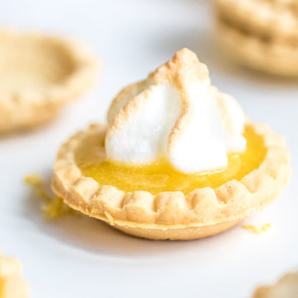 bite size Lemon Curd Tartlets