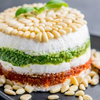Pesto Cream Cheese Spread appetizer
