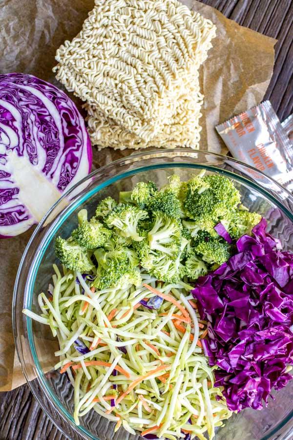 How to make Ramen Noodle Salad