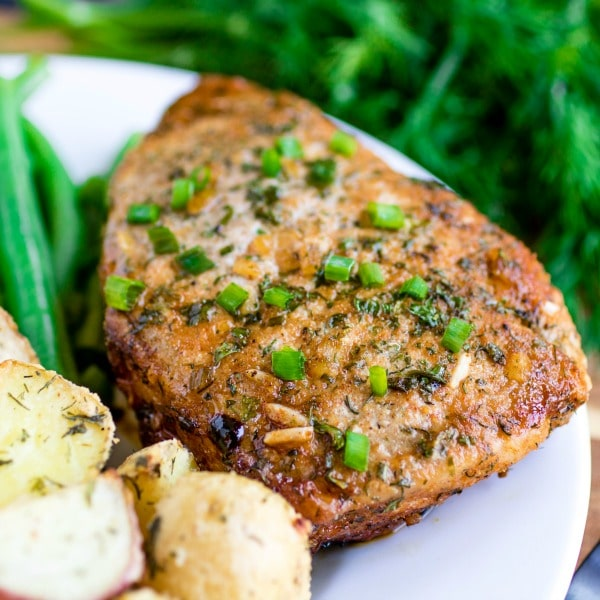 low carb Ranch Baked Pork Chops