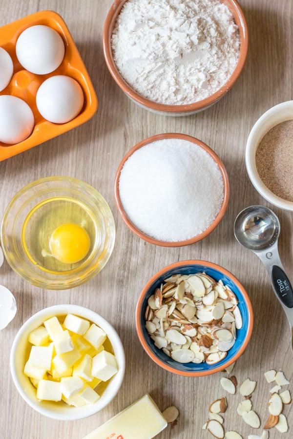 Ingredients to make Sand Tart Cookies