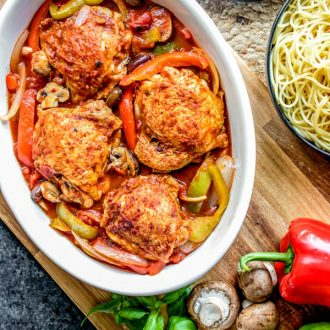 easy family Slow Cooker Chicken Cacciatore
