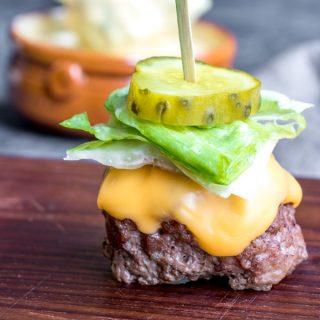 Low Carb Big Mac Bites appetizer