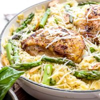One Pot Parmesan Chicken and Orzo