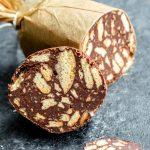 Portuguese Chocolate Salami slice