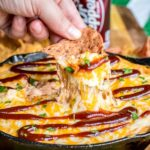 chip of Dr Pepper BBQ Chicken Dip