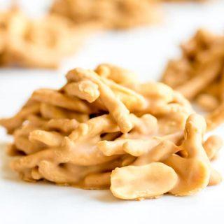 easy butterscotch Haystack Cookies