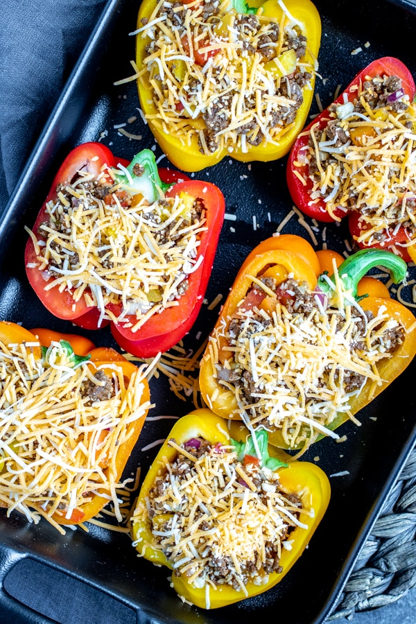 how to make Mexican Stuffed Peppers in the oven