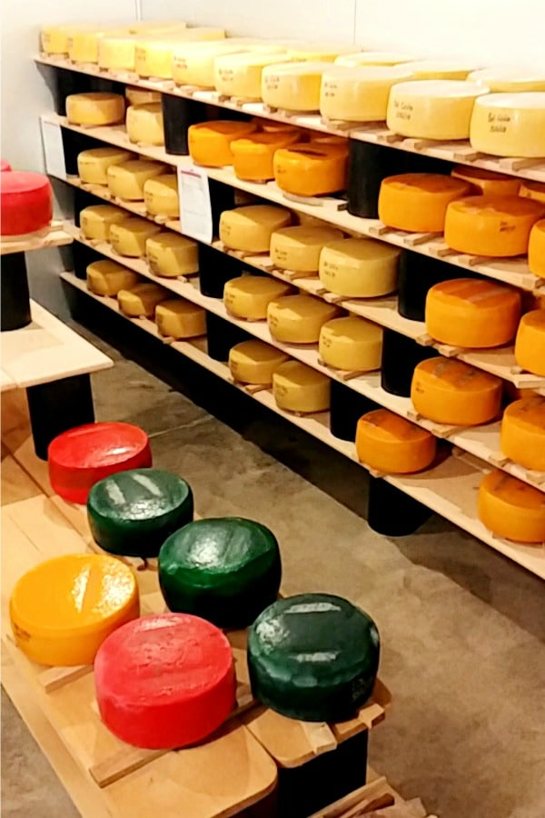 cheese cave at dairy food tour