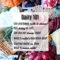 dairy food questions