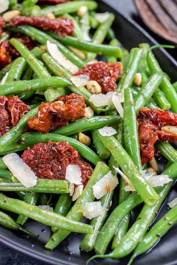 Italian Green Bean Salad with sun dried tomatoes