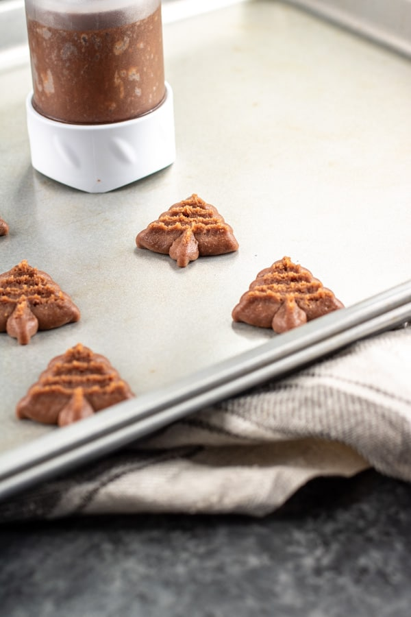 how to make Chocolate Spritz Cookies
