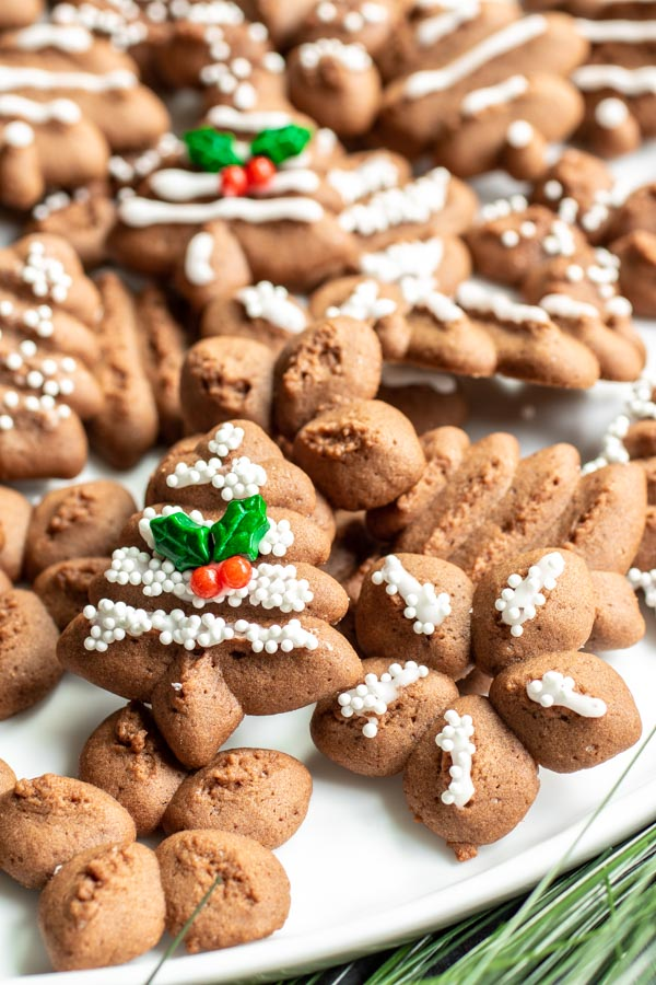 make ahead Chocolate Spritz Cookies