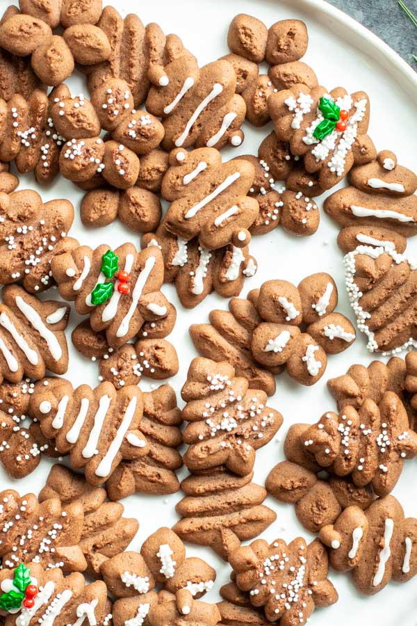 platter of Chocolate Spritz Cookies