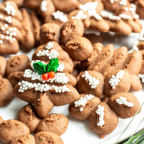 Holiday Chocolate Spritz Cookies