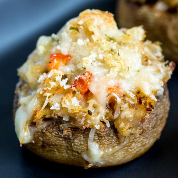 easy Crab Stuffed Mushrooms appetizer