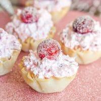 Cranberry Fluff Cheesecake Bites