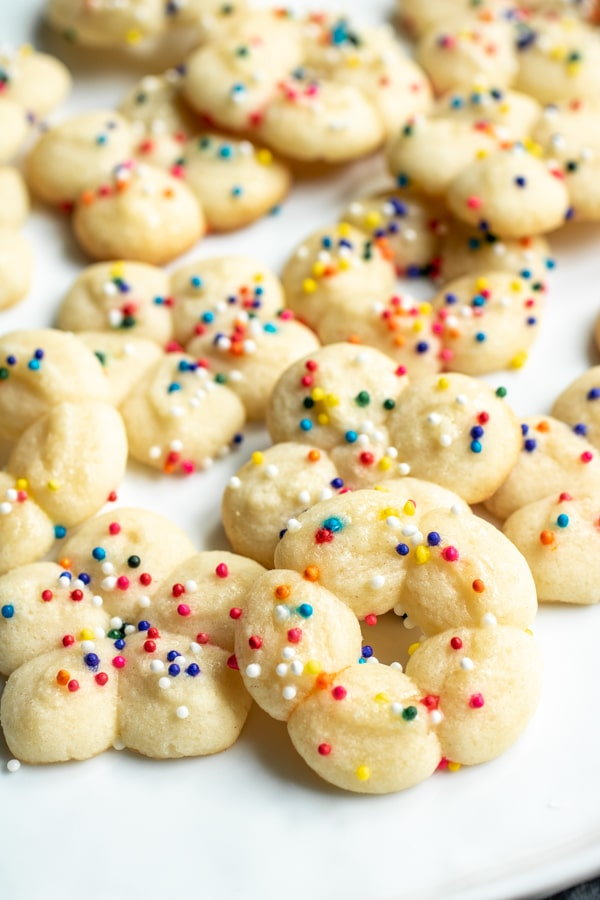 how to make Cream Cheese Spritz Cookies