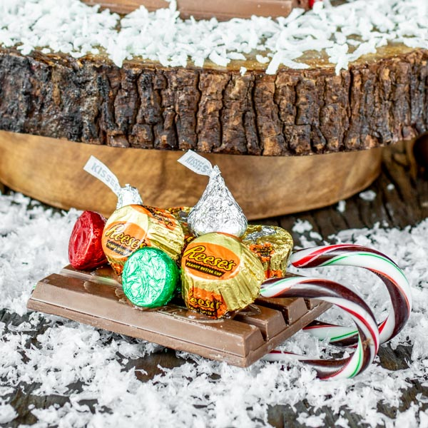 candy sled for Holiday Candy Cabin