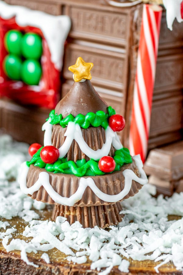 Reese's tree for Holiday Candy Cabin
