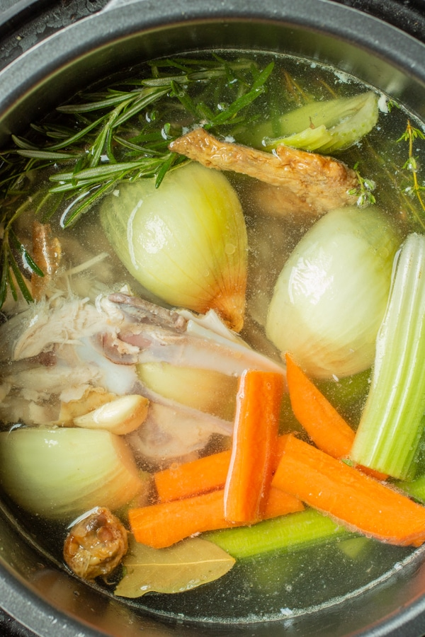 How to make Chicken Broth with rotisserie chicken