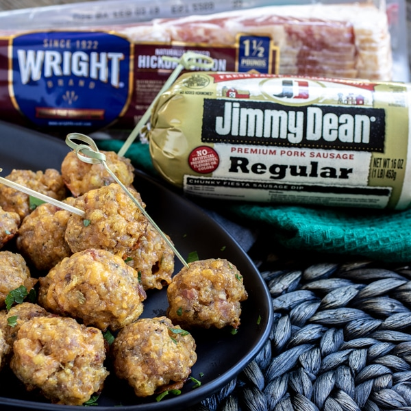 make ahead Stuffing Sausage Balls with Jimmy Dean